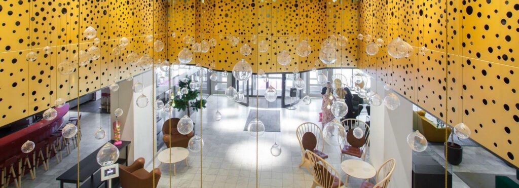 lobby inside of hotel c stockholm